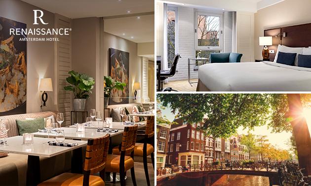 5-sterrenovernachting voor 2 + ontbijt in Amsterdam