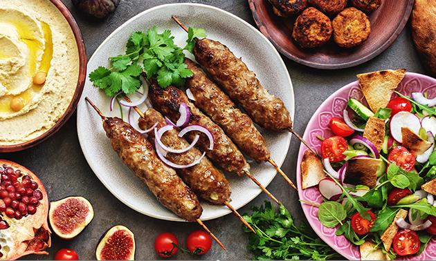 Menu libanais en 4 services à la carte