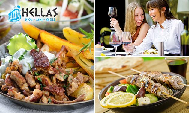 Grieks 3-gangen keuzediner Restaurant Hellas