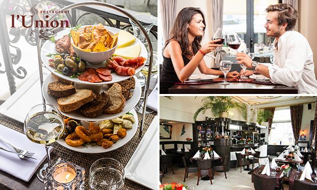 Tapas + glas wijn of speciaalbier bij l'Union