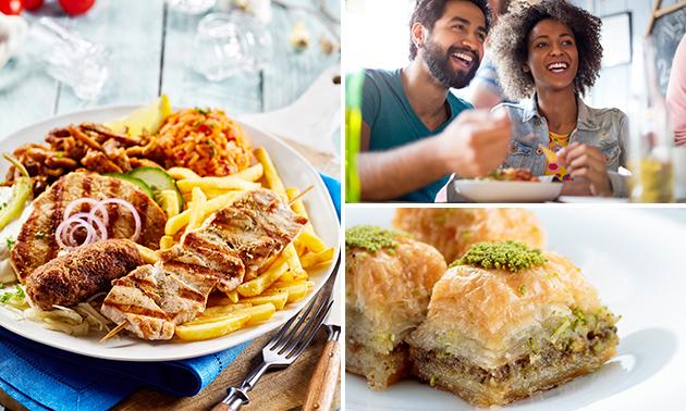 Grieks 3-gangendiner (40+ keuzes) bij Restaurant Minos