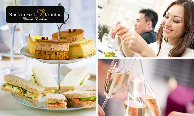 High tea + prosecco bij Plancius