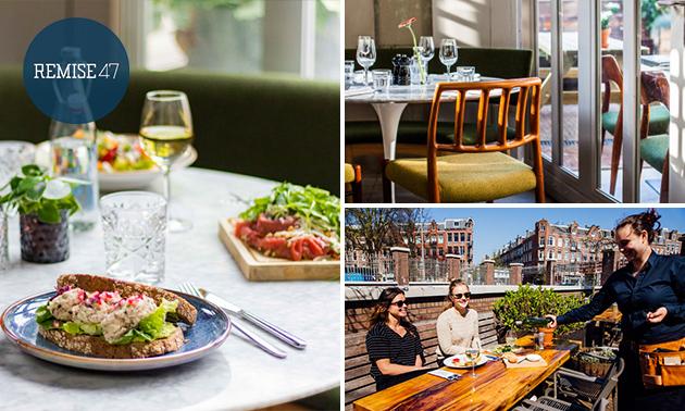 2-gangenlunch of -diner vlak bij De Hallen