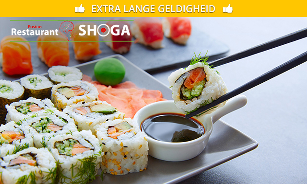 Afhalen bij Shoga: sushibox (16 stuks)