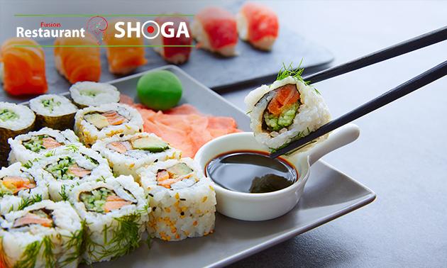 Afhalen bij Shoga: sushibox naar keuze (24 of 64 stuks)