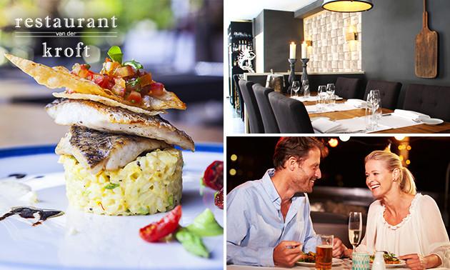 4-gangen keuzediner bij Restaurant van der Kroft