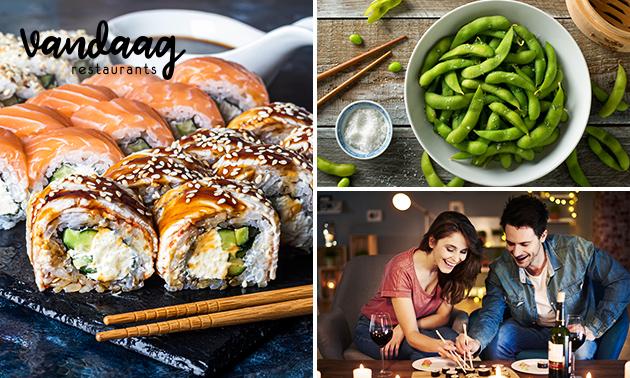 Afhalen: sushibox (36 stuks) + dessert