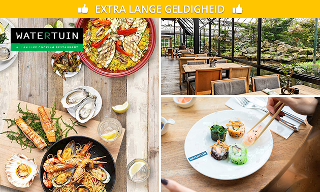 All-You-Can-Eat lunch (3,5 uur) bij Watertuin