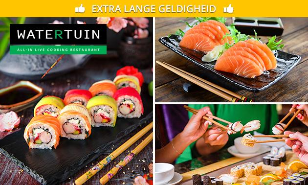 Afhalen: sushibox (48 of 96 stuks) van Restaurant Watertuin