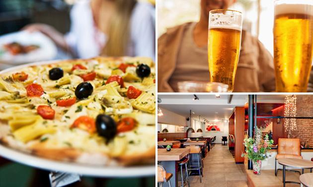 Pizza + drankje naar keuze in hartje Maastricht