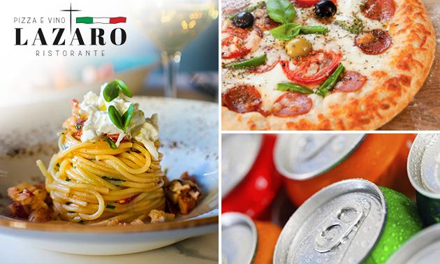 Thuisbezorgd of afhalen: pizza/pasta + drankje van Lazaro