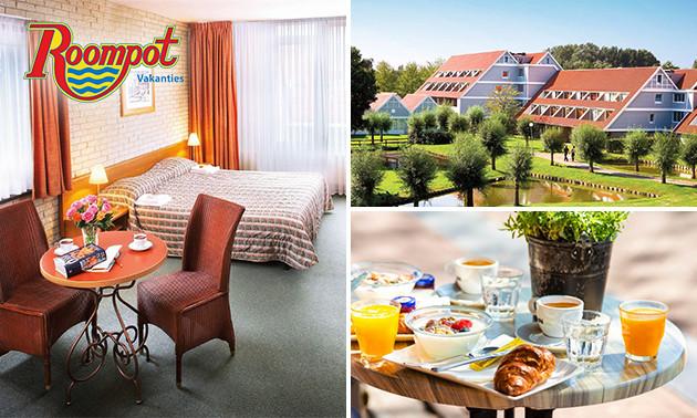 Roompot Hotel Vakantiepark Aquadelta Overnachting Voor 2 Ontbijt