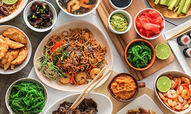 Thuisbezorgd of afhalen: Surinaamse rijsttafel