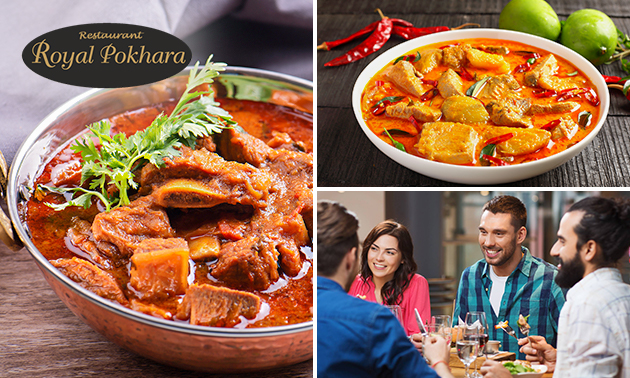Afhalen: maaltijd naar keuze + papadum van Royal Pokhara