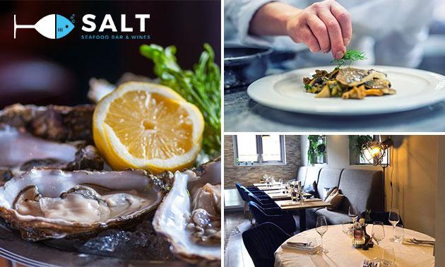 4-gangen keuzediner bij Salt Seafood Bar & Wines