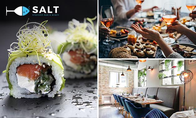Thuisbezorgd of afhalen: borrelbox voor 2 van Salt Seafood
