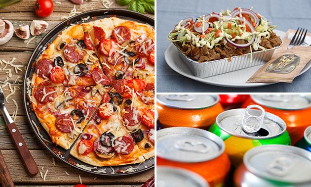 Dine-in of afhalen: kapsalon of pizza + fris in hartje Breda
