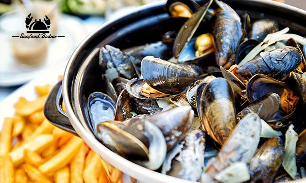 Mosselen + friet bij Seafood Bistro