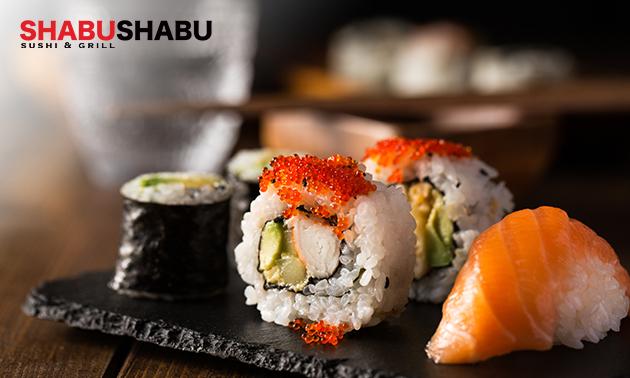 Afhalen: sushibox (38 of 58 stuks) van Shabu Shabu