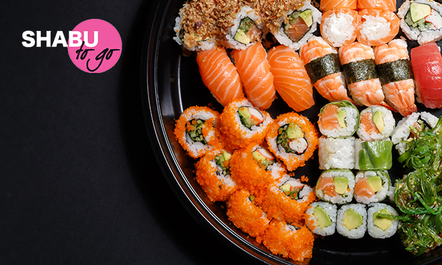 Afhalen: sushibox (24 of 40 stuks) van Shabu To Go