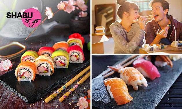 Afhalen: sushibox (24 of 40 stuks) van Shabu To Go