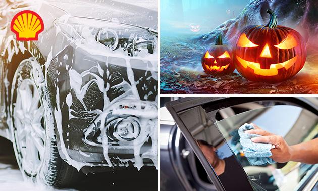 Uitgebreide (Halloween-)autowasbeurt bij Shell Dalem Zuid