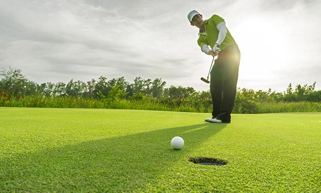 9 of 18 holes golfen