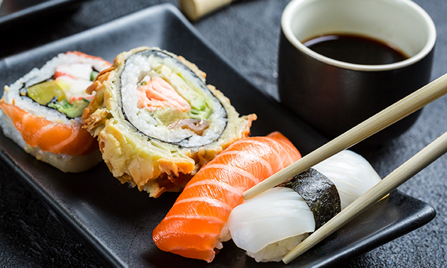 Afhalen: sushibox met 24, 30, 32 of 38 stuks