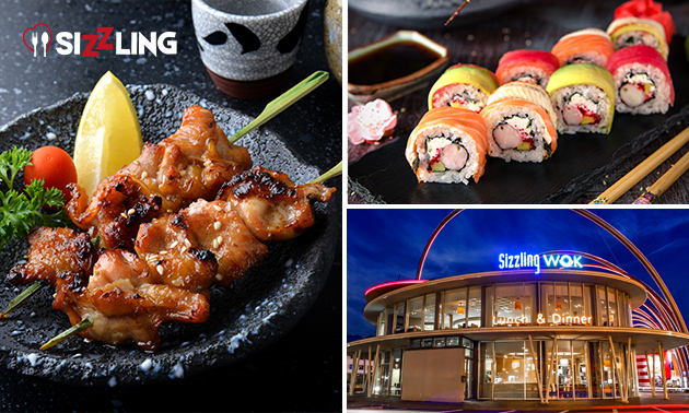 All-You-Can-Eat & Drink (3 uur) sushi & wok