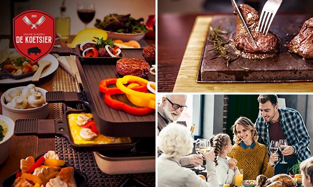 Thuisbezorgd of afhalen: gourmet- of vleespakket