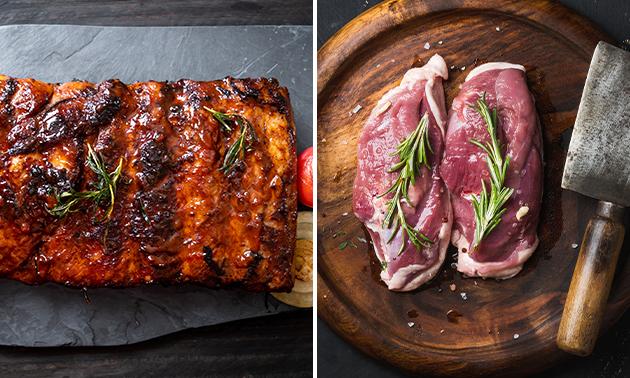 1 kilo spareribs óf vleespakket bij Slagerij Mark Wagelaar