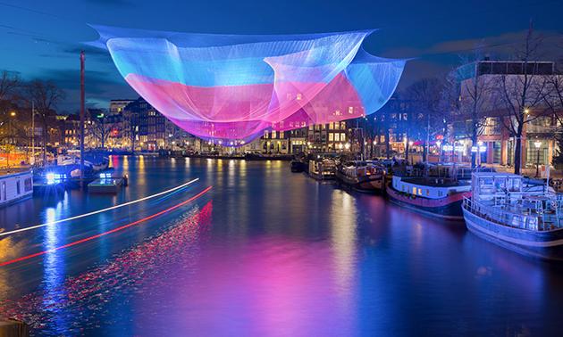 Rondvaart tijdens Amsterdam Light Festival
