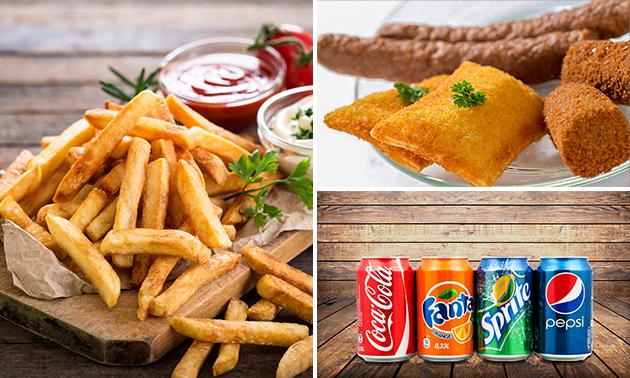Thuisbezorgd of afhalen: friet + saus + snack + drankje