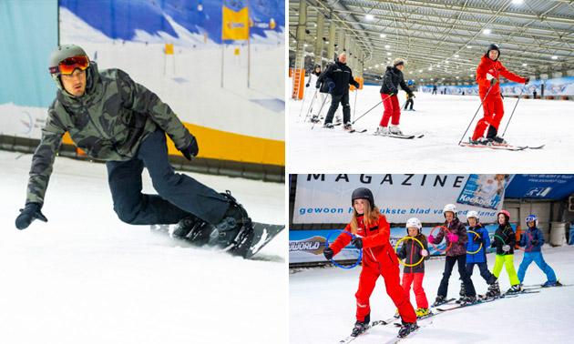 4-weekse cursus skiën of snowboarden bij SnowWorld
