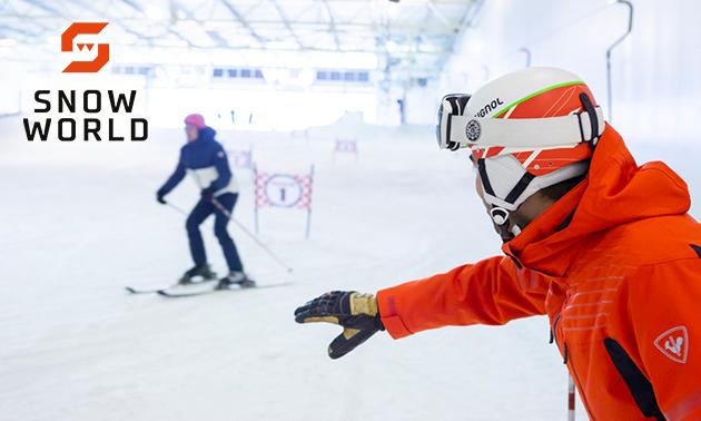 2 uur skiën of snowboarden bij SnowWorld