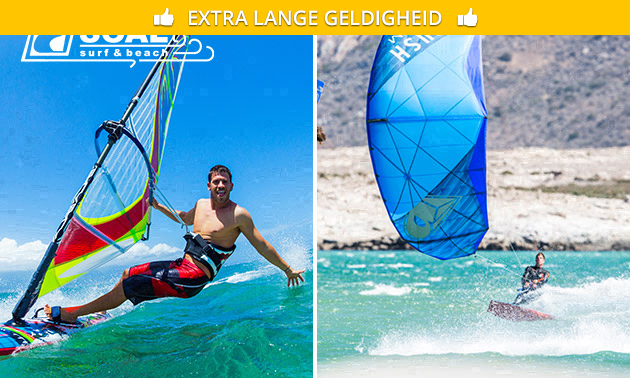 Weekend- of weekcursus wind- of kitesurfen