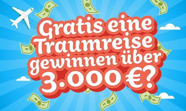 Gratis kans op een droomreis t.w.v. €3.000