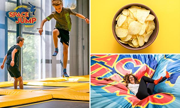 1 of 2 uur trampolinespringen bij Space Jump