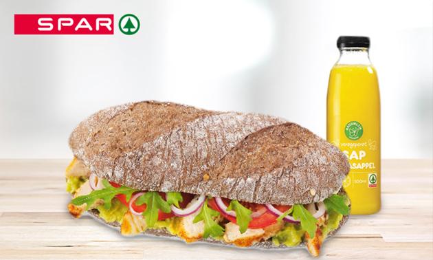 Afhalen: broodje + smoothie bij Spar Arnhem