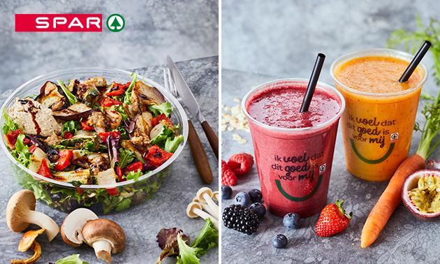 Afhalen: salade + smoothie naar keuze