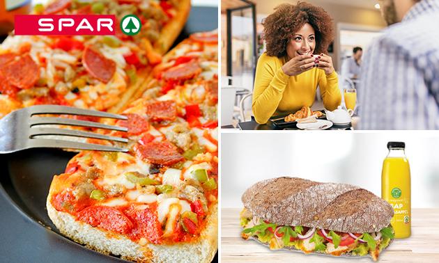 Afhalen bij SPAR: ontbijt, broodje of pizzapunt + drankje