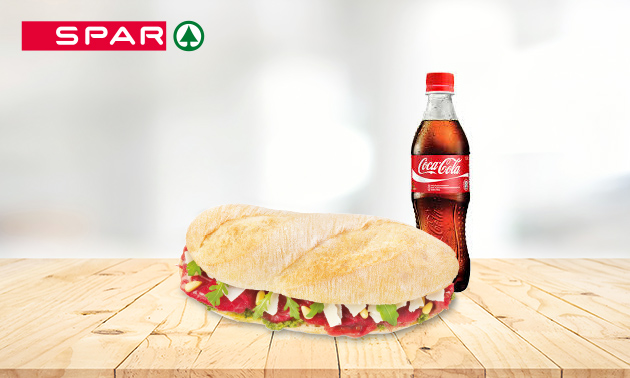 Broodje + frisdrank bij Spar City in hartje Zwolle