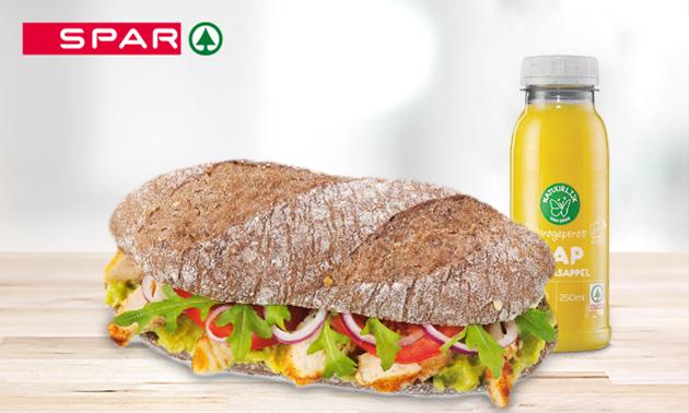 Broodje + sapje bij SPAR in hartje Den Haag