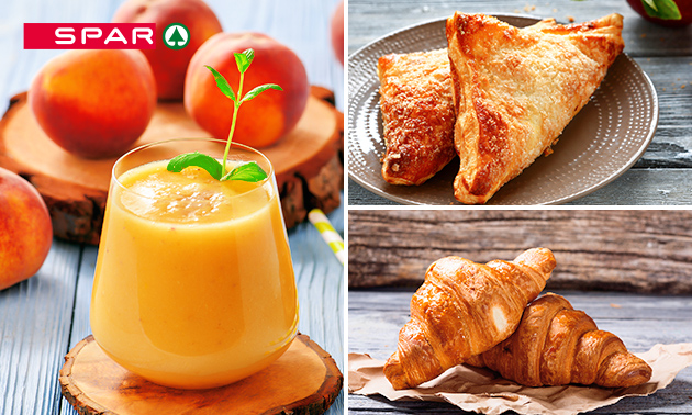 Smoothie + 2 croissants + appelflap bij de Spar