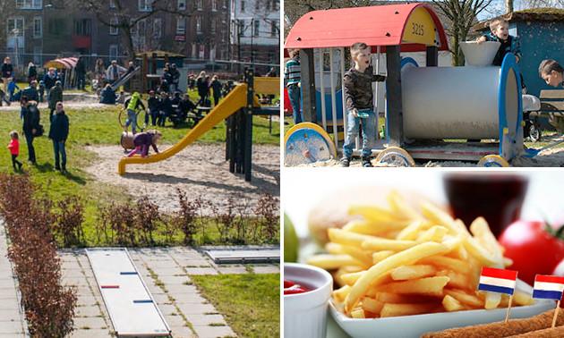 Entree speeltuin + friet + snack + drankje + ijsje