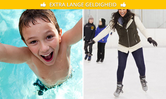 Zwemmen of schaatsen voor 2 bij Laco Glanerbrook