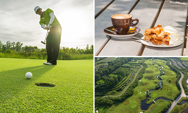 9 holes golfen + koffie of thee + appelgebak met slagroom
