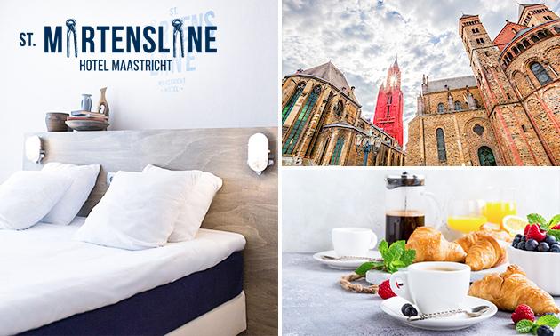 Overnachting + ontbijt + spa voor 2 in hartje Maastricht