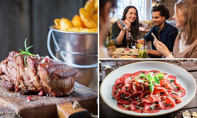 3-gangendiner (60+ keuzes) bij Steakhouse Bella