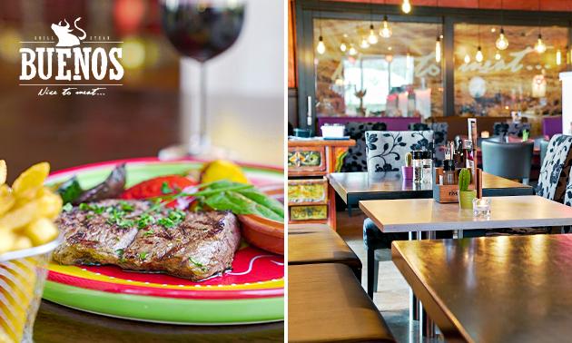 Afhalen: 3-gangen keuzediner bij Steakhouse Buenos